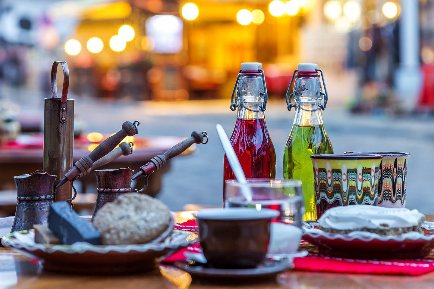 Try authentic Tryavna with sand coffee and more...